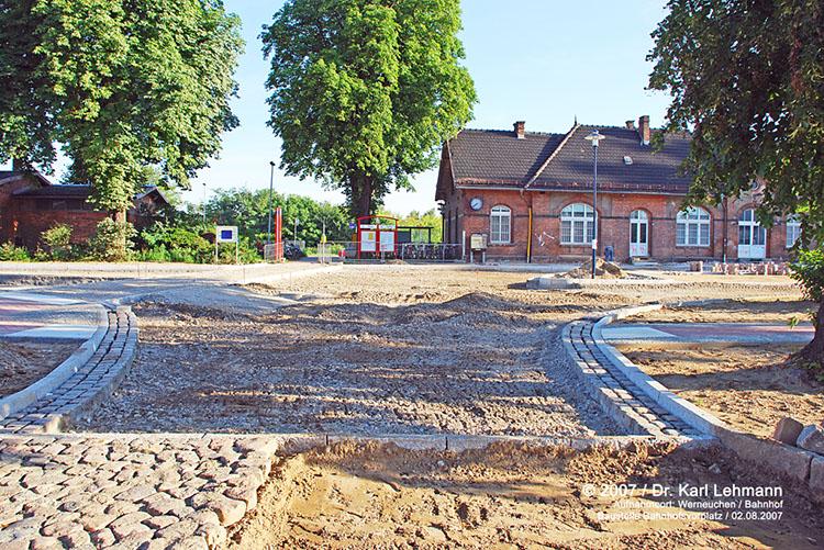 Umgestaltung Bahnhofsvorplatz Werneuchen