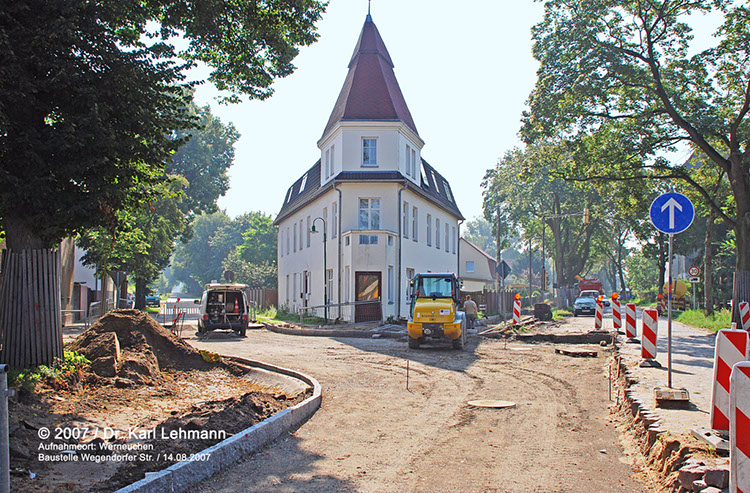 Baustelle Wegendorfer Str.