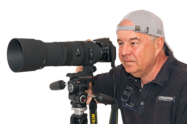 Karl Lehmann mit Fotoapparat