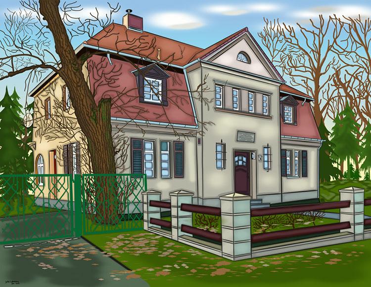 Pfarrhaus digital gezeichnet