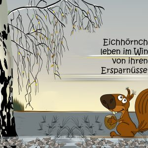 Cartoon Ersparnüsse