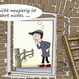 "Cartoon ""Neugierig sein"""