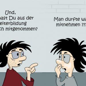 Cartoon Weiterbildung
